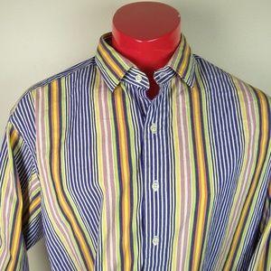 Polo Ralph Lauren Vertical Stripe Button Up Shirt